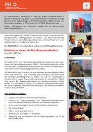 Kaufmann /frau für Bürokommunikation - DuesseldorfJobs24.de