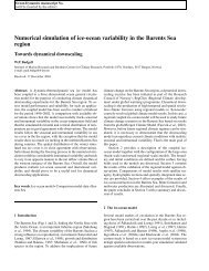 Numerical simulation of ice-ocean variability in the Barents Sea region