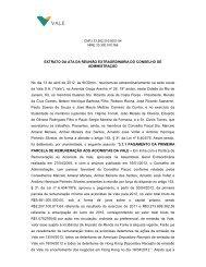 EXTRATO DA ATA DA REUNIÃO EXTRAORDINÁRIA ... - Vale.com