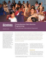 Comprehensive Safe Abortion Programming: - Pathfinder International
