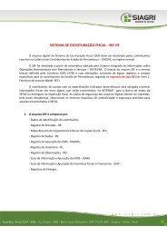 SISTEMA DE ESCRITURAÇÃO FISCAL - SEF-PE - Siagri