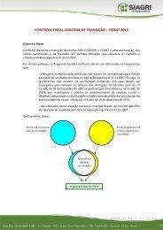 controle fiscal contábil de transição – fcont 2010 - Siagri