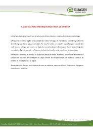 CADASTRO PARA ENDEREÇOS MÚLTIPLOS DE ENTREGA - Siagri