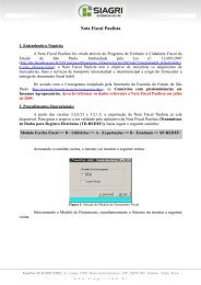 Nota Fiscal Paulista - Siagri
