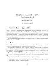 Projeto de MAC-211 — 2005 Batalha medieval - Rede Linux IME-USP