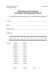 Klausur am 09.03.2007 - Organische Chemie - Christoffers