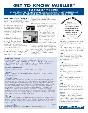 CO-119-2 Company Facts - Paul Mueller Company
