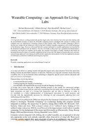 Wearable Computing – an Approach for Living Labs - Enea