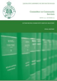 Outsourcing Community Service Delivery - Final Report
