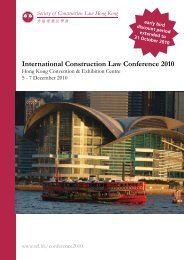 International Construction Law Conference 2010 - Hong Kong ...