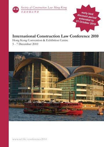 International Construction Law Conference 2010 - Hong Kong ...