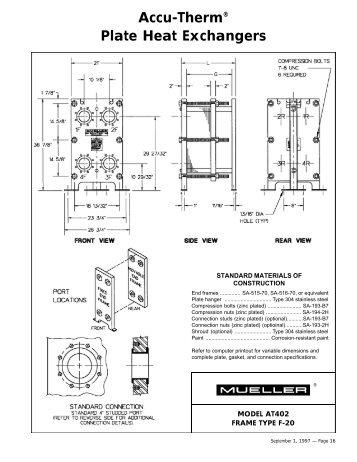 Model AT402 Frame Type F-20 - HxRx - Paul Mueller Company