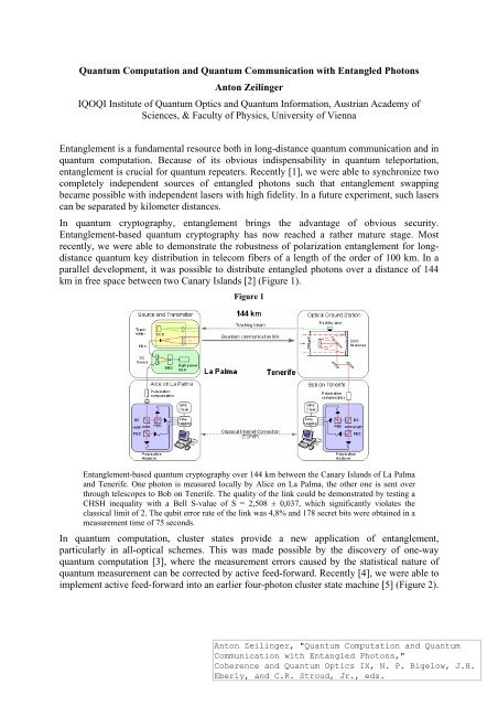 Link to PDF - Quantum Experiments and the Foundations of Physics