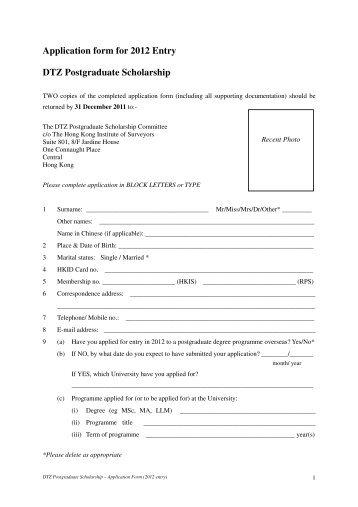 postgraduate coursework application form