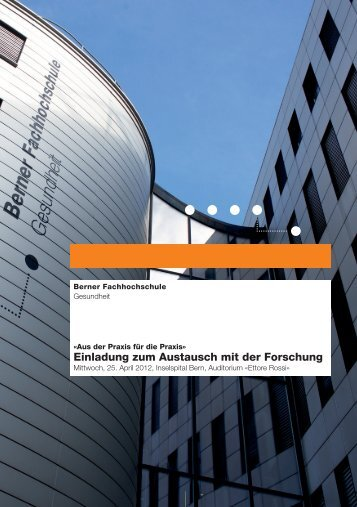 Einladung zum Austausch mit der Forschung - Berner Fachhochschule