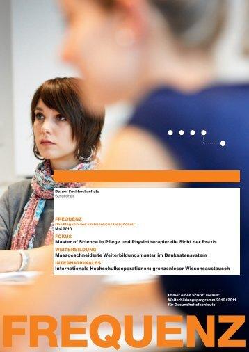 frequenz - Departement Wirtschaft, Gesundheit, Soziale Arbeit