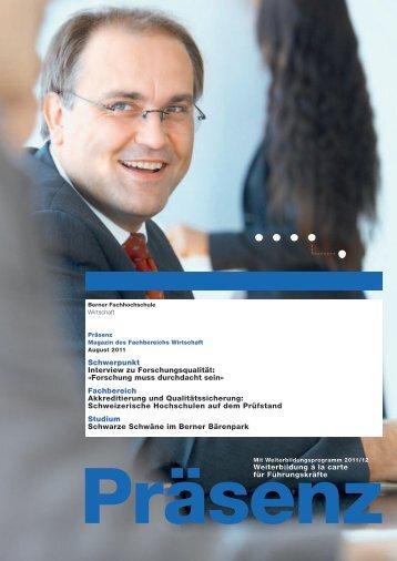 zum Kundenmagazin «Präsenz - Departement Wirtschaft ...