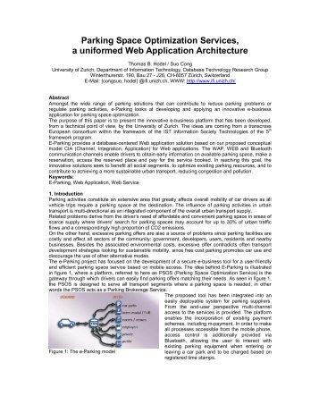 Parking Space Optimization Services, a uniformed Web Application ...