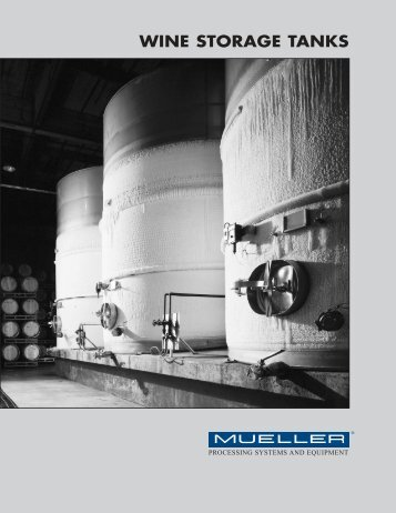wine storage tanks - Paul Mueller Company