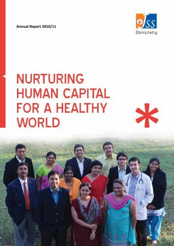 nurturing human capital for a healthy world - JSS University, Mysore