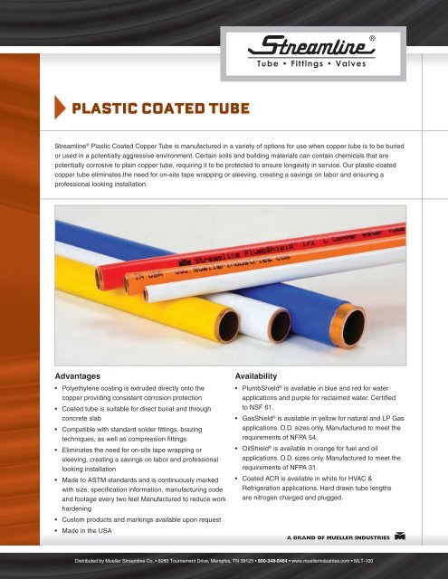 Plastic coated tUBe - Mueller Industries
