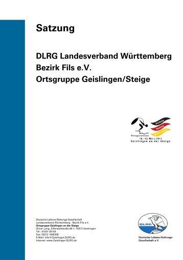Satzung der DLRG Ortsgruppe Geislingen
