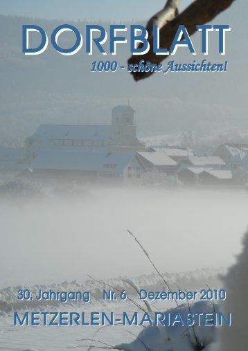 DORFBLATT Dezember 2010 - Metzerlen-Mariastein