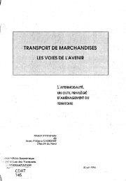 TRANSPORT DE MARCHANDISES LES VOIES DE L'AVENIR - Temis