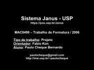 Slides (50Kb) - Rede Linux IME-USP