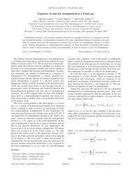 Equation of state for entanglement in a Fermi gas - Linking to APS ...