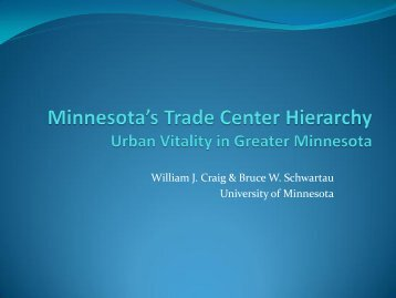 Minnesota's Trade Center Hierarchy Urban Vitality in Greater ...