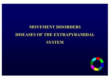movement disorders diseases of the extrapyramidal system