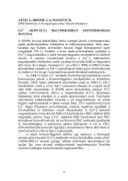 Előadás és poszter absztraktok - Debreceni Egyetem Orvos- és ...