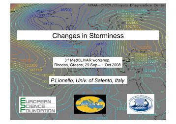 Changes in Storminess - Medclivar