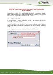 PROCESSO Nº 6603 SOBRE IMPLANTAÇÃO DE ... - Siagri