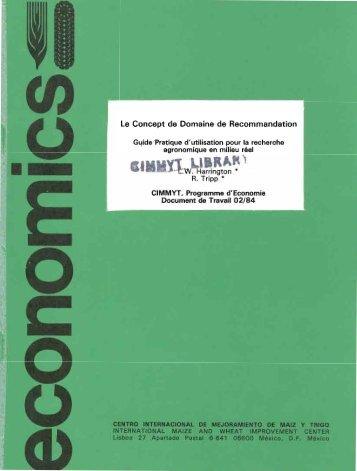 Le Concept de Domaine de Recommandation Le Concept - Search ...