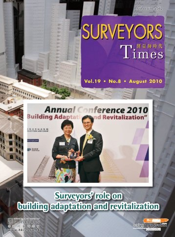 Surveyors Times-Volume 19 Issue 8 - Hong Kong Institute of ...