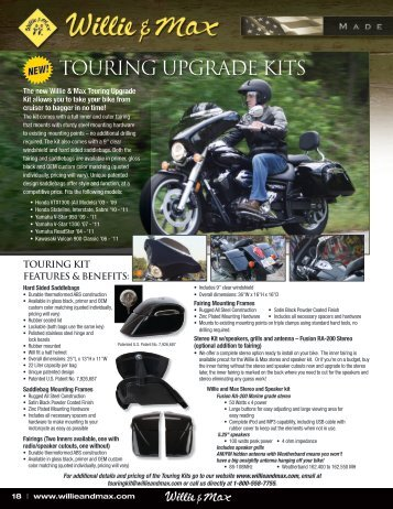TOURING UPGRADE KITS - Willie and Max