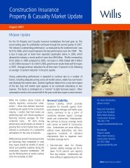 Construction Insurance Property & Casualty Market Update - Willis