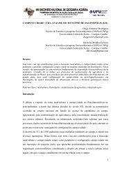 CAMPO E CIDADE - LAGEA - Universidade Federal de Uberlândia