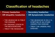 Primary headaches - neurology presentations