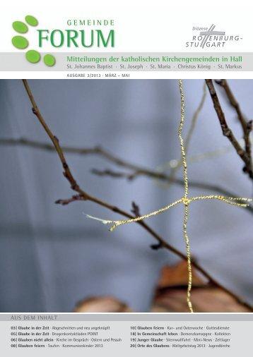 Ausgabe 2/2013 März - Mai 2013 - Gesamtkirchengemeinde Schwäbisch Hall