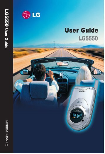 LG5550 Handset User Guide