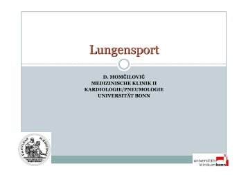 Lungensport - Medizinische Klinik und Poliklinik II