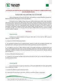 NOTA FISCAL ELETRÔNICA Alteração nas disposições do ... - Siagri