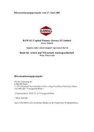 BAWAG Capital Finance (Jersey) II Limited Bank für Arbeit und ...