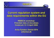Current regulating system and data requirements within ... - REBECA