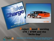 """Project Based Learning CTE / STEM and the """"Skills Gap"""""""