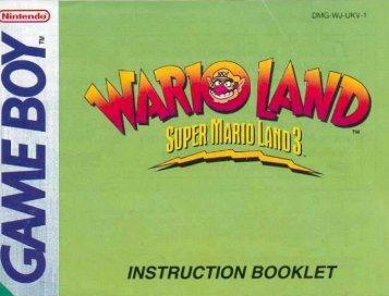 Wario Land Super Mario Land 3 - Manual - GB - Game Boy Land