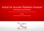 Actran for Acoustic Radiation Analysis
